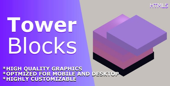 Tower Blocks - HTML5 Game - CodeCanyon Item for Sale