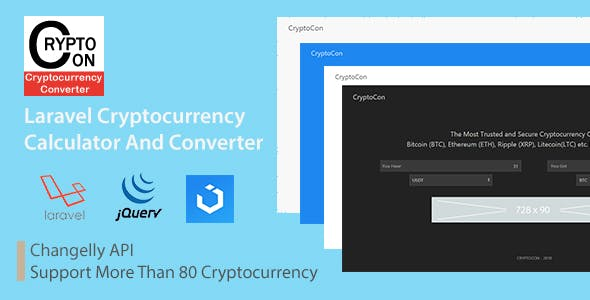 CryptoCon - Laravel Cryptocurrency Calculator And Converter