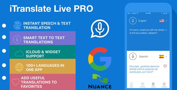 [WHITE Label] iTranslate Live Pro - Instant Speech & Text Translation