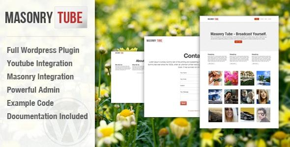 Masonry Tube Wordpress Plugin - CodeCanyon Item for Sale