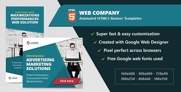 HTML5 Animated Banner Ads - Web Company (GWD)