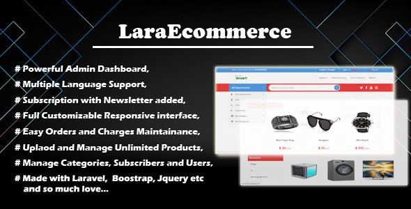 LaraEcommerce - Modern Online Business - CodeCanyon Item for Sale