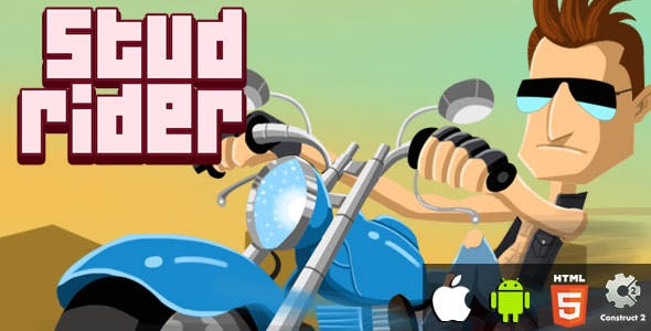 Stud Rider - HTML5 Game (CAPX)