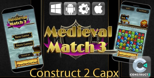 Medieval Match 3 - HTML5 Game (Capx)