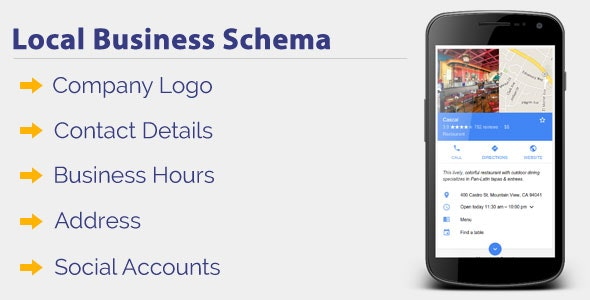 Local Business Schema - CodeCanyon Item for Sale