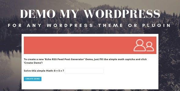Demo My WordPress - Temporary WordPress Install Creator - CodeCanyon Item for Sale
