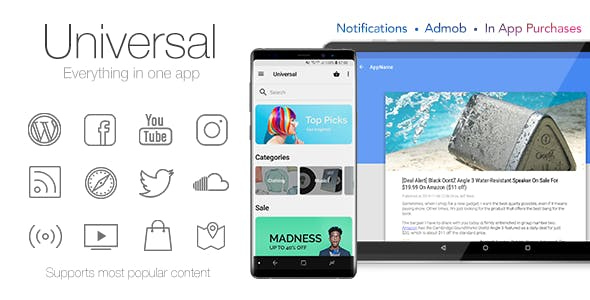 Universal - Full Multi-Purpose Android App        Nulled