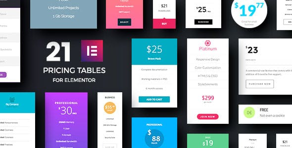 Price Tables Addons for Elementor Page Builder