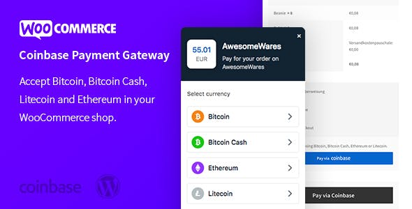 WooCommerce Coinbase Cryptocurrency Payment Gateway – Accept Cryptocurrencies in WooCommerce