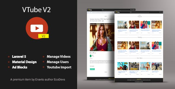 VTube v2 - Video Hosting & Sharing Script
