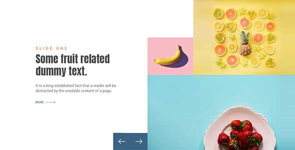 Section slider using Bootstrap 4 Carousel with CSS Customization (No additional JavaScript)