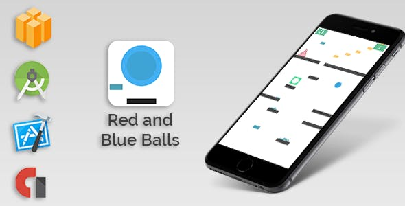 The Bounce Adventure - Blue and Red Balls - Buildbox Game - IOS - Android Studio