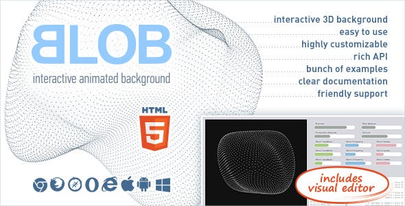 BLOB - Interactive Animated 3D Background