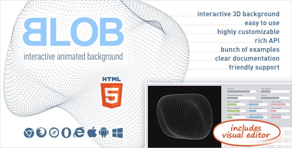 BLOB - Interactive Animated 3D Background - CodeCanyon Item for Sale
