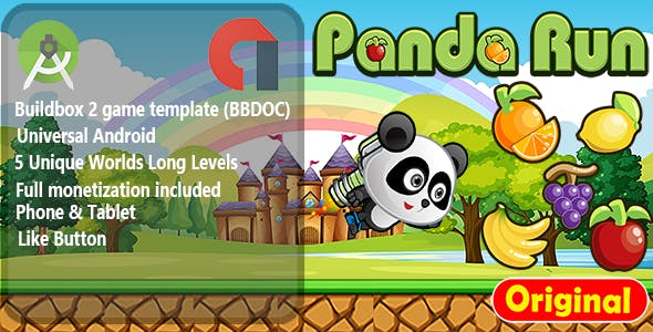 Panda Run - Android Studio Game + Admob