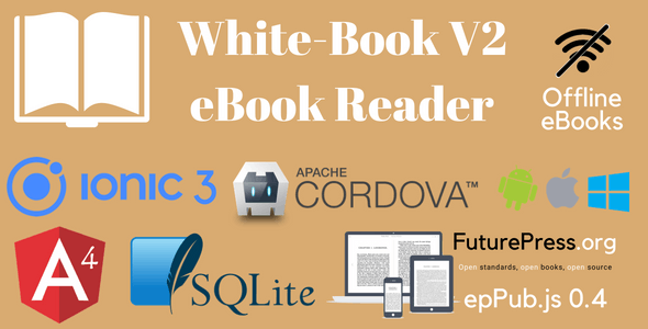 White-Book V2. Ionic 3 eBook Reader Application Template