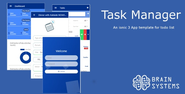 Task Manager - Ionic 3 App Theme - CodeCanyon Item for Sale