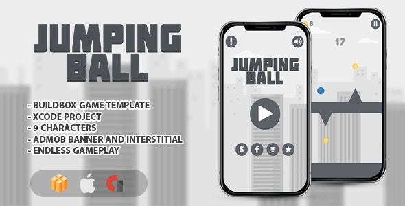 Jumping Ball - IOS XCODE Source + Buildbox Template - CodeCanyon Item for Sale