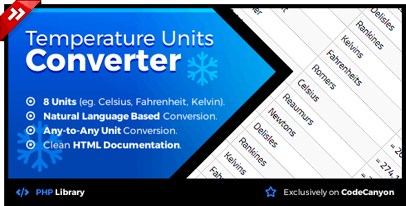 Temperature Units Converter - Natural Language Conversion Library