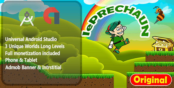 Leprechaun Island - Android Studio Game + Admob