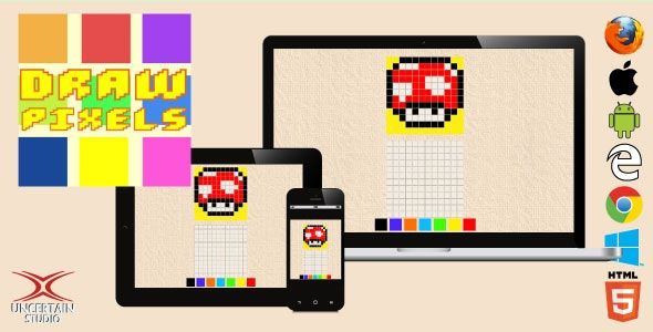Draw Pixels - HTML5 Drawing Game - CodeCanyon Item for Sale