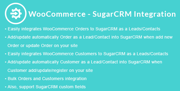 WooCommerce - SugarCRM Integration