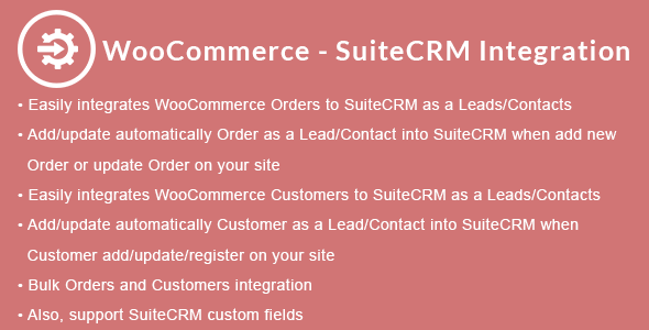 WooCommerce - SuiteCRM Integration - CodeCanyon Item for Sale