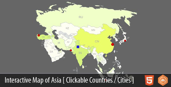 Interactive Map of Asia