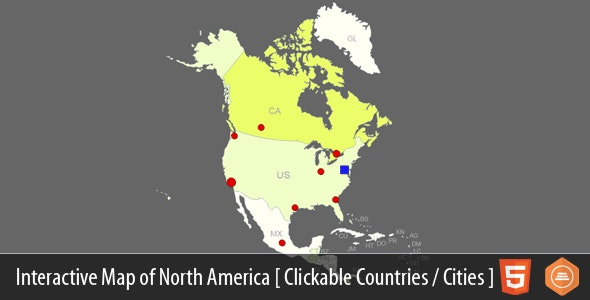 Interactive Map of North America by Art101 | CodeCanyon