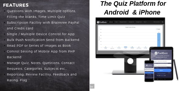 PudQuiz - The Quiz Mobile Platform for Android and iPhone