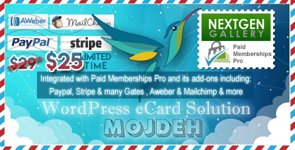 Mojdeh | WordPress Greeting / eCard / Postcard Plugin