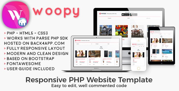woopy | PHP Listings + Chat Web Template - CodeCanyon Item for Sale