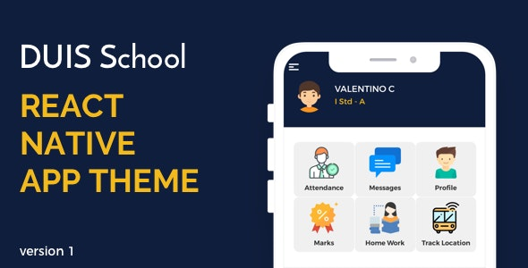 DUIS School React Native UI - CodeCanyon Item for Sale