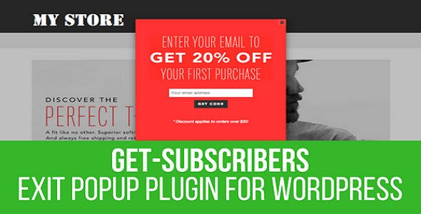 Get Subscribers - Exit Popup for WordPress