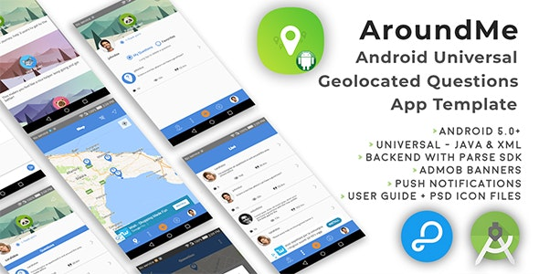 AroundMe | Android Universal Geolocation Questions App