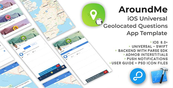 AroundMe | iOS Universal Geolocated Questions App Template (Swift)