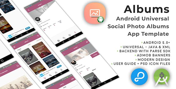 Albums | Android Universal Photo Albums Sharing App Template