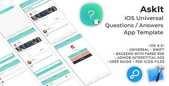 AskIt | iOS Universal Questions/Answers App Template (Swift)