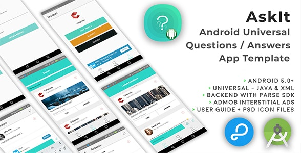 AskIt | Android Universal Questions/Answers App Template - CodeCanyon Item for Sale