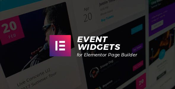 Event Widgets for Elementor Page Builder