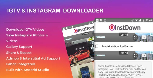 Instagram and IGTV Photo Video Downloader - CodeCanyon Item for Sale