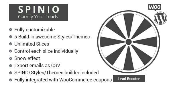 Spinio - Fortune wheel for WooCommerce (Sales and Lead booster)