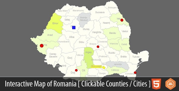 Interactive Map of Romania - CodeCanyon Item for Sale