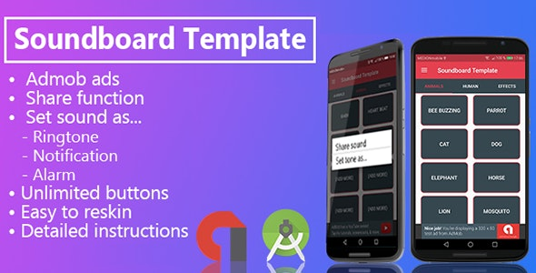Soundboard with Share function by blackskystudios | CodeCanyon
