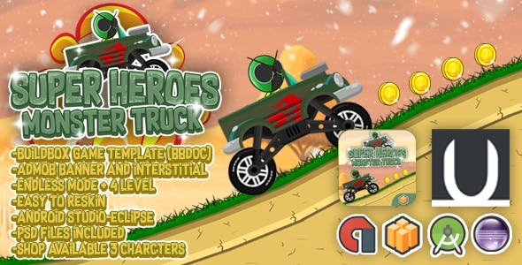 Super Heroes Monster Truck + Admob (BBDOC + Eclipse + Android Studio)