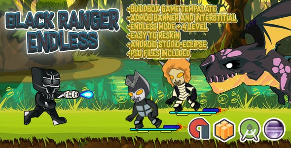 Black Ranger Endless + Admob (BBDOC+Android Studio)