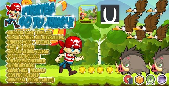 Pirates Go To Jungle + Admob (BBDOC+Eclipse+AndroidStudio+PSD)