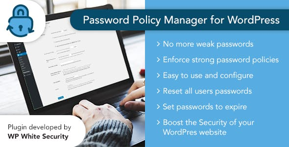 Password Policy Manager for WordPress - CodeCanyon Item for Sale