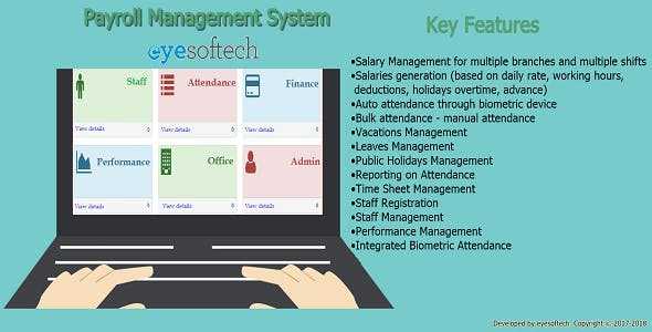 Biometric Payroll Management System v1.21 (ePayroll)