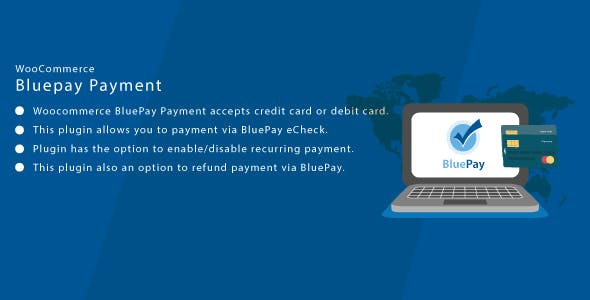 Wordpress WooCommerce Bluepay CC & ACH Payment Gateway
